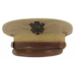 Cap, Service, Tropical Worsted, Khaki, Officers, 1943, 6 3/4