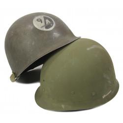 Helmet, Shell, M1, flexible bales, 94th Infantry Division (Sologne)