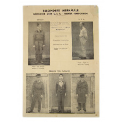 Circular, German, Identification of RAF and USAAF Airmen, 1944