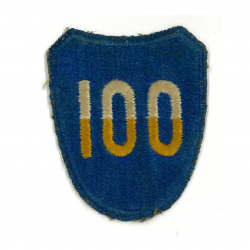 Patch, 100th Infantry Division, green back, 1943