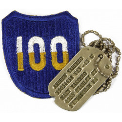 Dog tag, Cpl. Andrew Yaremko, 100th Infantry Division