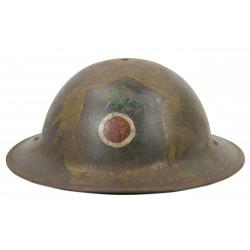 Helmet, M-1917, 37th Infantry Division, camouflaged, Meuse - Argonne