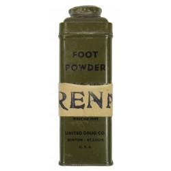 Tin, Powder, Foot, Medical Item No. 12040, Named