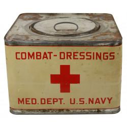 Box, Metal, Combat-dressing Med. Dept. U.S. Navy, Normandy
