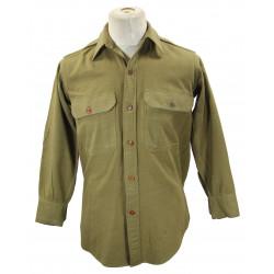 Shirt, Flannel, OD, Officer, Named