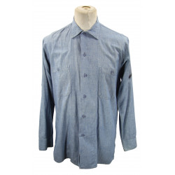 Shirt, Chambray, US Navy, Chemise Chambray, US Navy, Petty Officer 3rd Class