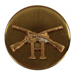 Disk, Collar, Infantry, H Company, SB