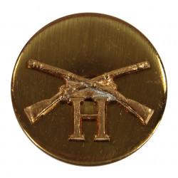 Disk, Collar, Infantry, H Company, SB