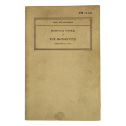Manual, Technical, TM 10-515, The Motorcycle, 1942