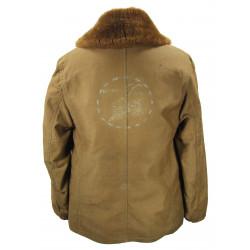Coat, Lined, Sheepskin, US Navy, Seabees, Named