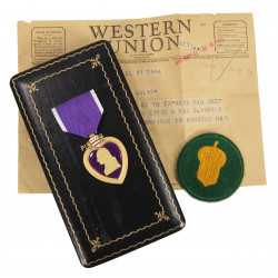 Medal, Purple Heart, in box, ID, 87th Infantry Division
