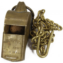 Whistle, Brass, Regulation U.S. Army