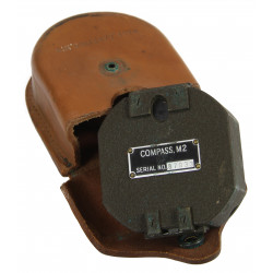 Compass M2, US Army, with leather pouch M19
