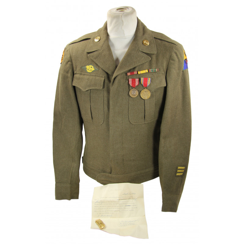 Jacket, Ike, 774th Tank Destroyer Battalion, 9th Armored