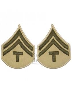 T/5 rank insignia, summer