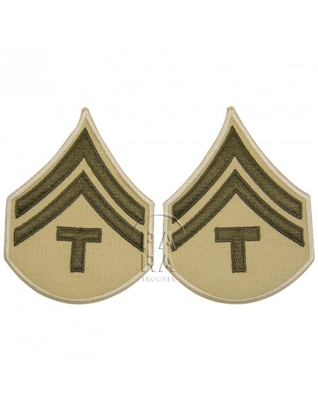 Grades en tissu de Corporal Technician T/5, été