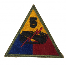 Patch, 5th Armored Division, Green Back, 1943