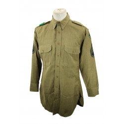 Shirt, Wool, S/Sgt, 4th Infantry Division, 16 ½ x 33, 1942