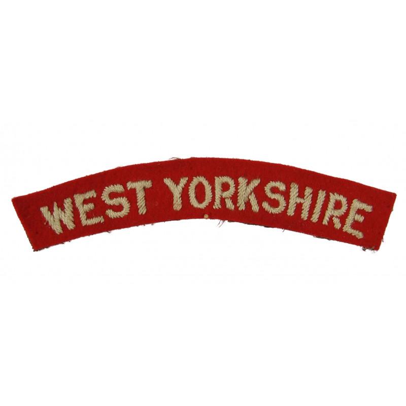 Shoulder Title, The West Yorkshire Regiment, Dunkirk, Burma