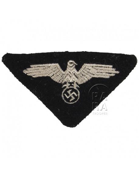 Aigle calot Waffen SS, tissé