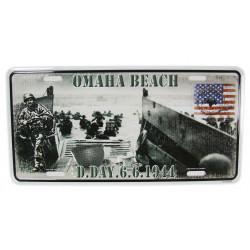Licence Plate, D-Day 6.6.1944, Omaha Beach