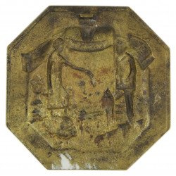 Plaque, Shell, Brass, Capitulation du Reich, May 8th 1945