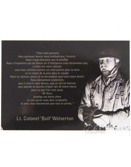 Carte postale, prière Wolverton