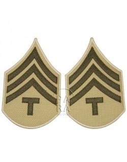 Grades en tissu de Sergeant T/4, été