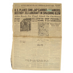 Front page, Newspaper, June 22, 1944