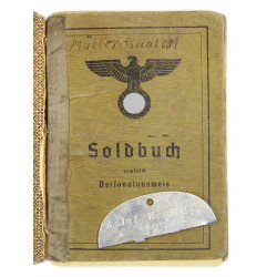 Soldbuch + Dog Tag, Oberleutnant Georg Müller-Kuales, KIA near Cologne, April 1945