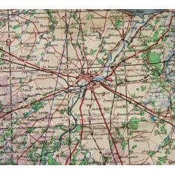 Map, War Office, Cherbourg & Caen, 1943, Normandy
