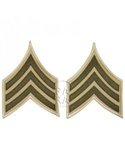 Grades en tissu de Sergeant, été