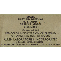 Packet, Dressing, Individual, US Army, MD 18312, 24 July 1942