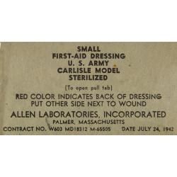 Pansement US Army, MD 18312, 24 July 1942