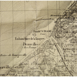Map, German, North-East of Caen, 1943