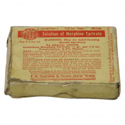 Box, Morphine syrettes, Normandy