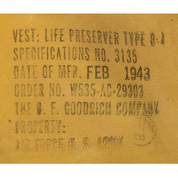 Life preserver, B-4, 1943