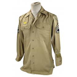 Shirt, Chino, T/Sgt, 1st Infantry Division