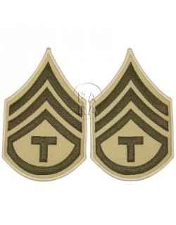 Grades en tissu de Sergeant T/3, été