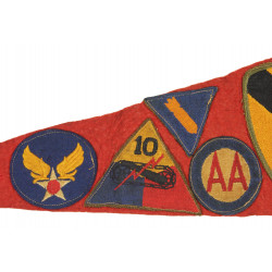 Pennant, Red, with Ties, Jakcson, Mississippi, with Patches