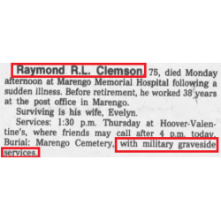 Grouping, T/5 Raymond Clemson, 104th Infantry Division, ETO
