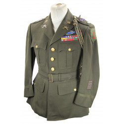 Jacket, Service, Officer's, OD, 18th Inf. Regt., 1st Infantry Division, ID