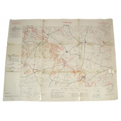 Going Map, Normandy, Putanges (South West of Falaise), 1944
