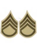 Grades en tissu de Staff/Sergeant, été
