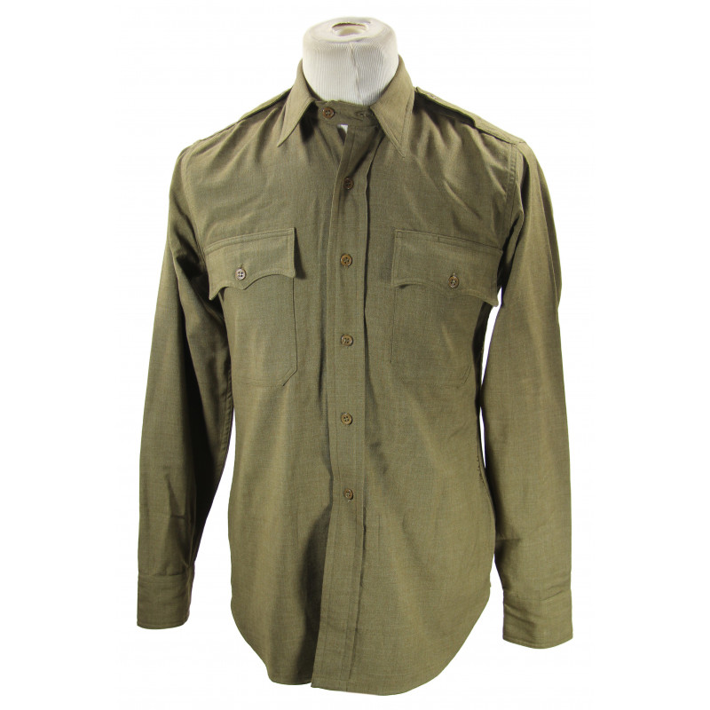 Shirt, Flannel, OD, Officer