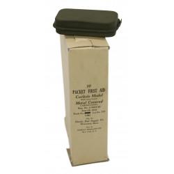 Pansement US en boite métal, vert, 1943