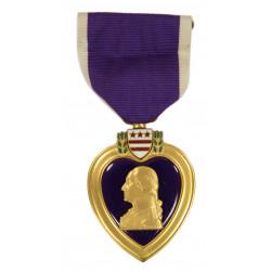 Medal, Purple Heart, in Box, A.E. Co., Utica, NY, 1943