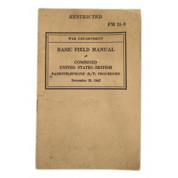 Basic Field Manual FM 24-9, Combined US-British Radiotelephone Procedure, 1942