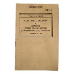 EN COURS Manuel technique, FM 24-9, Combined US-British Radiotelephone Procedure, 1942