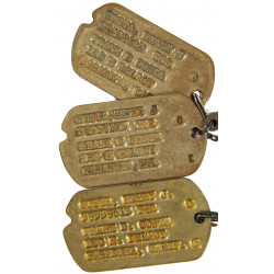 Dog Tags, 1st Type, Monel, Henry Costa, 1942